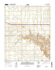 Claude NE Texas Current topographic map, 1:24000 scale, 7.5 X 7.5 Minute, Year 2016