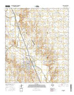 Clifton Texas Current topographic map, 1:24000 scale, 7.5 X 7.5 Minute, Year 2016 from Texas Map Store
