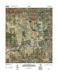 Coahoma Texas Historical topographic map, 1:24000 scale, 7.5 X 7.5 Minute, Year 2012