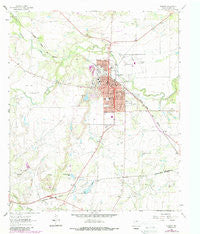 Coleman Texas Historical topographic map, 1:24000 scale, 7.5 X 7.5 Minute, Year 1963
