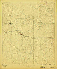Coleman Texas Historical topographic map, 1:125000 scale, 30 X 30 Minute, Year 1887