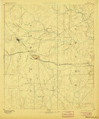 Coleman Texas Historical topographic map, 1:125000 scale, 30 X 30 Minute, Year 1889