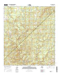 Colita Texas Current topographic map, 1:24000 scale, 7.5 X 7.5 Minute, Year 2016
