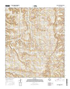 Collins Creek SW Texas Current topographic map, 1:24000 scale, 7.5 X 7.5 Minute, Year 2016