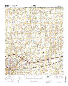 Colorado City Texas Current topographic map, 1:24000 scale, 7.5 X 7.5 Minute, Year 2016