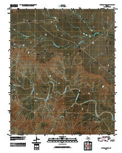 Colwell Creek Texas Historical topographic map, 1:24000 scale, 7.5 X 7.5 Minute, Year 2010