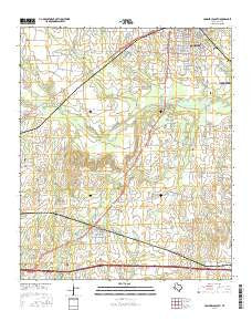 Commerce South Texas Current topographic map, 1:24000 scale, 7.5 X 7.5 Minute, Year 2016
