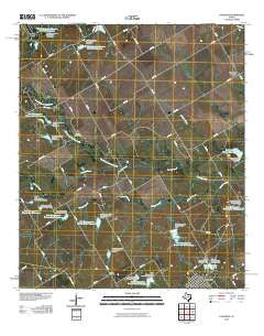 Coolidge Texas Historical topographic map, 1:24000 scale, 7.5 X 7.5 Minute, Year 2010