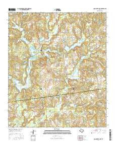 Coon Creek Lake Texas Current topographic map, 1:24000 scale, 7.5 X 7.5 Minute, Year 2016