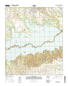 Cooper South Texas Current topographic map, 1:24000 scale, 7.5 X 7.5 Minute, Year 2016