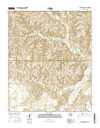 Cottonwood Camp Texas Current topographic map, 1:24000 scale, 7.5 X 7.5 Minute, Year 2016 from Texas Map Store