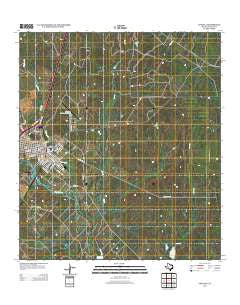 Cotulla Texas Historical topographic map, 1:24000 scale, 7.5 X 7.5 Minute, Year 2013