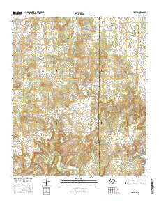 Crafton Texas Current topographic map, 1:24000 scale, 7.5 X 7.5 Minute, Year 2016
