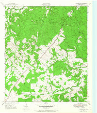 Crockett NE Texas Historical topographic map, 1:24000 scale, 7.5 X 7.5 Minute, Year 1950