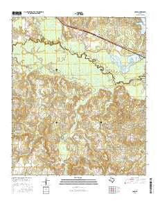 Crow Texas Current topographic map, 1:24000 scale, 7.5 X 7.5 Minute, Year 2016