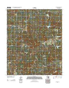 Cundiff Texas Historical topographic map, 1:24000 scale, 7.5 X 7.5 Minute, Year 2012