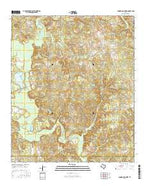 Cunningham Creek Texas Current topographic map, 1:24000 scale, 7.5 X 7.5 Minute, Year 2016 from Texas Map Store