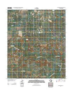 Dads Corner Texas Historical topographic map, 1:24000 scale, 7.5 X 7.5 Minute, Year 2012
