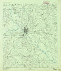 Dallas Texas Historical topographic map, 1:125000 scale, 30 X 30 Minute, Year 1891