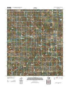 Darnell Branch Texas Historical topographic map, 1:24000 scale, 7.5 X 7.5 Minute, Year 2012