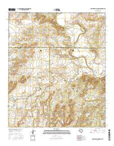 Dead Indian Mountain Texas Current topographic map, 1:24000 scale, 7.5 X 7.5 Minute, Year 2016