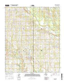 Deport Texas Current topographic map, 1:24000 scale, 7.5 X 7.5 Minute, Year 2016
