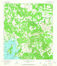 Devils Backbone Texas Historical topographic map, 1:24000 scale, 7.5 X 7.5 Minute, Year 1963