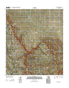 Devils Den Texas Historical topographic map, 1:24000 scale, 7.5 X 7.5 Minute, Year 2012