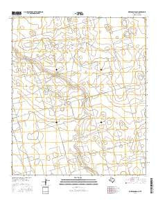 Dickenson Ranch Texas Current topographic map, 1:24000 scale, 7.5 X 7.5 Minute, Year 2016
