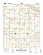 Dodd Texas Current topographic map, 1:24000 scale, 7.5 X 7.5 Minute, Year 2016 from Texas Map Store