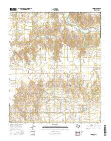 Dodson Texas Current topographic map, 1:24000 scale, 7.5 X 7.5 Minute, Year 2016