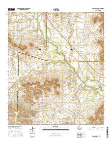 Dog Creek NE Texas Current topographic map, 1:24000 scale, 7.5 X 7.5 Minute, Year 2016