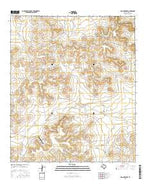 Dog Creek NW Texas Current topographic map, 1:24000 scale, 7.5 X 7.5 Minute, Year 2016 from Texas Map Store
