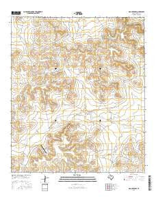 Dog Creek NW Texas Current topographic map, 1:24000 scale, 7.5 X 7.5 Minute, Year 2016