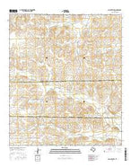Dog Creek SW Texas Current topographic map, 1:24000 scale, 7.5 X 7.5 Minute, Year 2016 from Texas Map Store