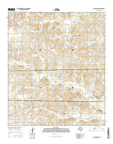 Dog Creek SW Texas Current topographic map, 1:24000 scale, 7.5 X 7.5 Minute, Year 2016