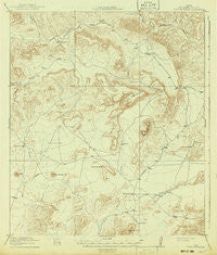 Dove Mountain Texas Historical topographic map, 1:62500 scale, 15 X 15 Minute, Year 1918