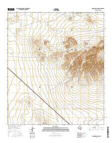 Dowman Canyon Texas Current topographic map, 1:24000 scale, 7.5 X 7.5 Minute, Year 2016