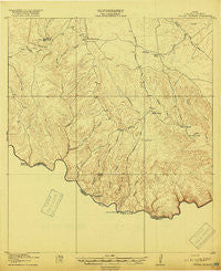 Dryden Crossing Texas Historical topographic map, 1:62500 scale, 15 X 15 Minute, Year 1918