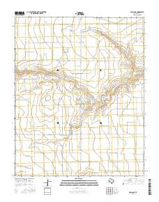 Dumas NE Texas Current topographic map, 1:24000 scale, 7.5 X 7.5 Minute, Year 2016