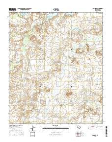 Dundee SE Texas Current topographic map, 1:24000 scale, 7.5 X 7.5 Minute, Year 2016