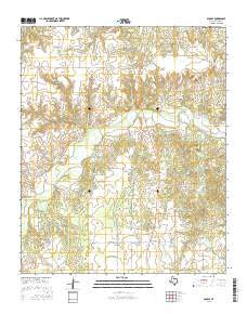 Dunlap Texas Current topographic map, 1:24000 scale, 7.5 X 7.5 Minute, Year 2016