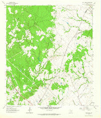 Dunn Creek Texas Historical topographic map, 1:24000 scale, 7.5 X 7.5 Minute, Year 1963