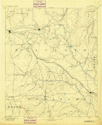 Eastland Texas Historical topographic map, 1:125000 scale, 30 X 30 Minute, Year 1894