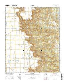 Edgemon Lake Texas Current topographic map, 1:24000 scale, 7.5 X 7.5 Minute, Year 2016