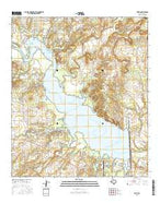 Edith Texas Current topographic map, 1:24000 scale, 7.5 X 7.5 Minute, Year 2016 from Texas Map Store