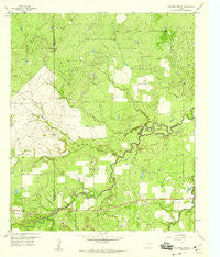 Edwards Branch Texas Historical topographic map, 1:24000 scale, 7.5 X 7.5 Minute, Year 1958