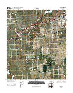 Elbow Texas Historical topographic map, 1:24000 scale, 7.5 X 7.5 Minute, Year 2012