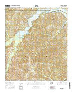 Elderville Texas Current topographic map, 1:24000 scale, 7.5 X 7.5 Minute, Year 2016 from Texas Map Store