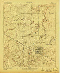 Electra Texas Historical topographic map, 1:31680 scale, 7.5 X 7.5 Minute, Year 1918